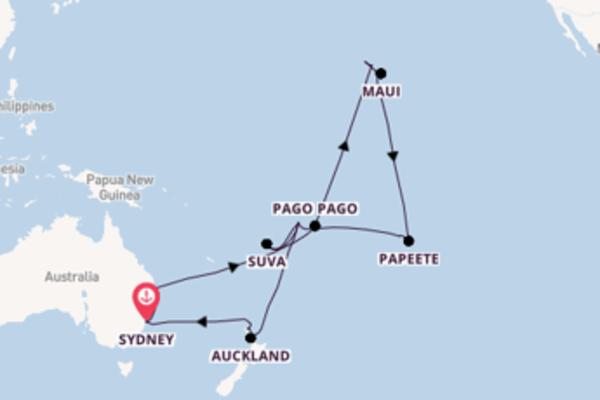 Viaggio di 36 giorni a bordo di Coral Princess