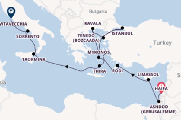 A bordo di Seven Seas Voyager fino a Civitavecchia