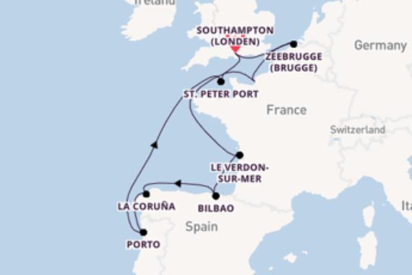 Vaar met de Norwegian Star naar Southampton (Londen)