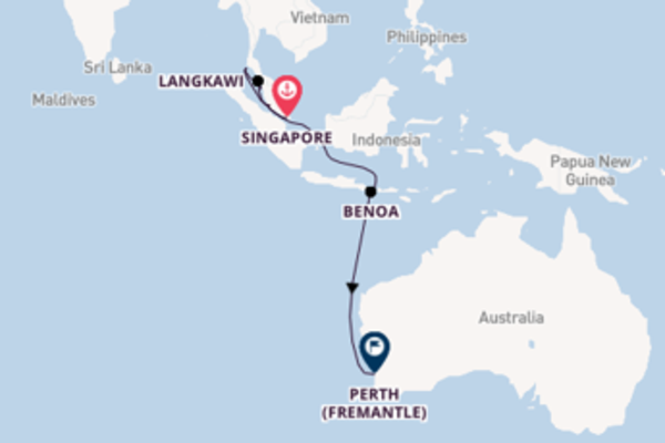 Destinazione Perth (Fremantle) da Singapore