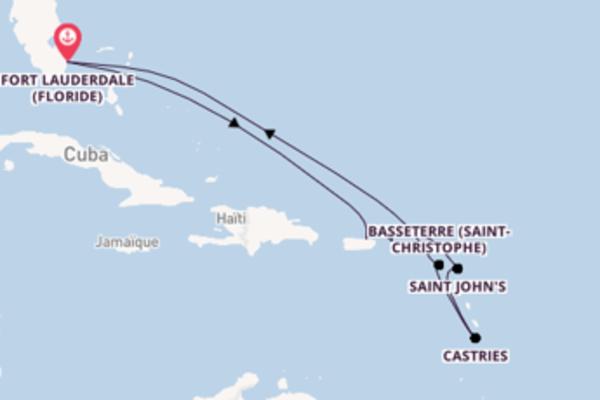 Castries depuis Fort Lauderdale (Floride) pour une croisière de 10 jours