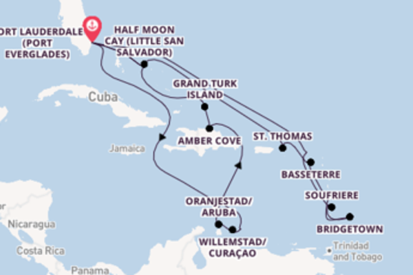 Vibrant voyage from Fort Lauderdale (Port Everglades) with Holland America Line