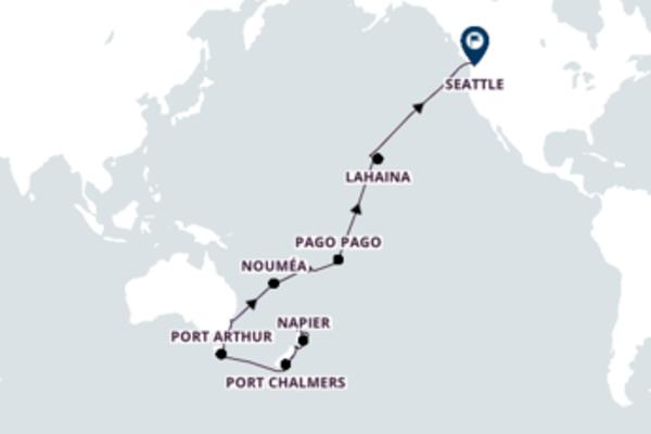 A bordo do Oosterdam em um cruzeiro de 44 dias