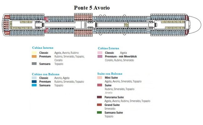 Costa luminosa una sfavillante nave da crociera costa for Quali sono le migliori cabine su una nave da crociera