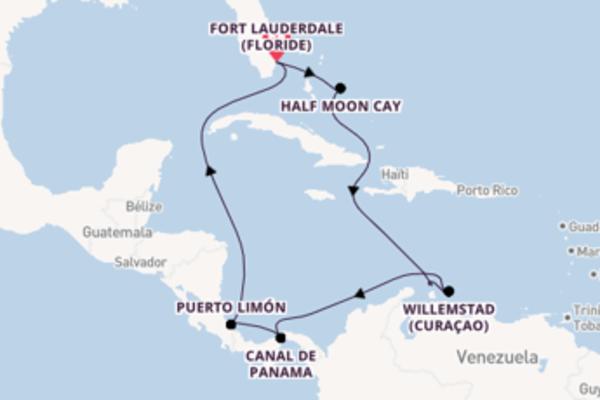11 jours pour découvrir Puerto Limón au départ de Fort Lauderdale