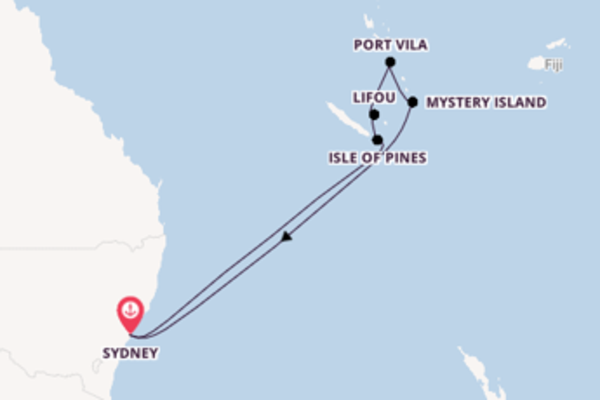 Voyage from Sydney with the Pacific Adventure