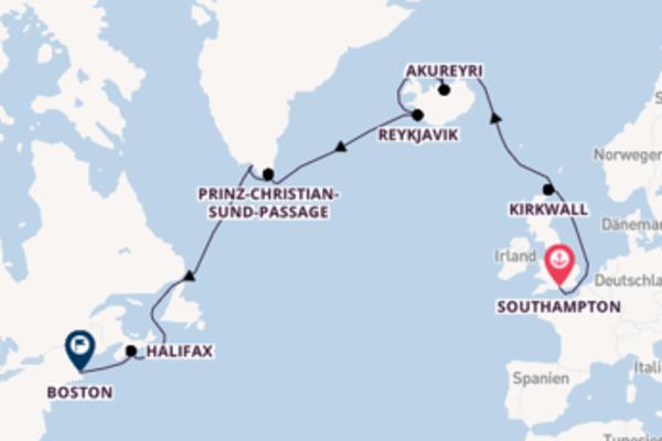 Faszinierende Kreuzfahrt von Southampton nach Boston
