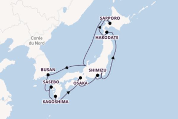 13 jours de navigation à bord du bateau Norwegian Sun vers Tokyo