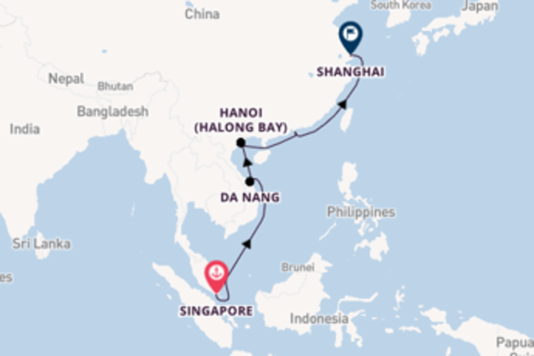 13-daagse cruise naar Hanoi (Halong Bay)