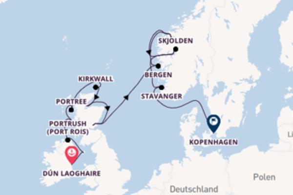 Irische Klippen, schottische Schlösser & norwegische Fjorde