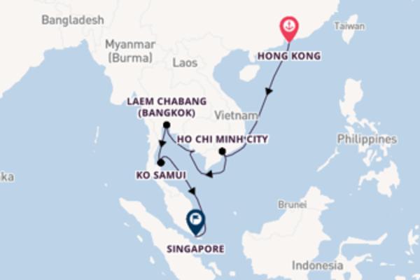 Sailing to Singapore from Hong Kong