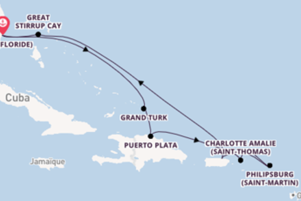 Explorez avec Norwegian Cruise Line , la destination: Charlotte Amalie (Saint-Thomas)