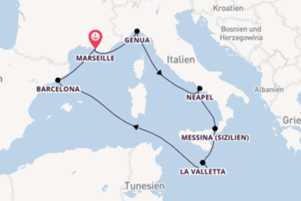 Kreuzfahrt mit der MSC Seashore nach Marseille