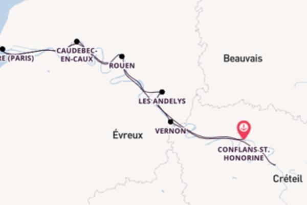 In 6 Tagen nach Paris über Caudebec-en-Caux