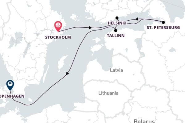 Stockholm to Copenhagen 8-Day Voyage