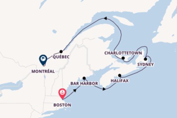 Mémorable balade de 8 jours au départ de Boston
