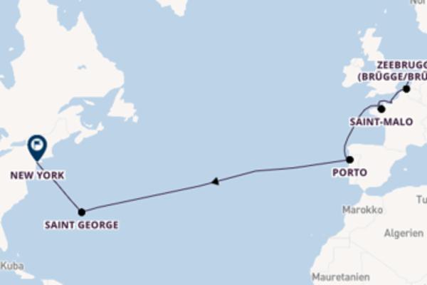 Amsterdam und Saint-Malo entdecken