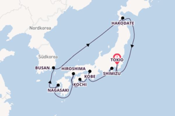 Von Tokio über Kobe in 15 Tagen