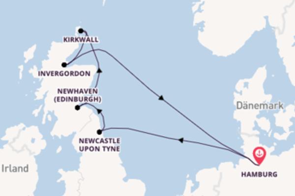 In 8 Tagen nach Hamburg über Newcastle upon Tyne