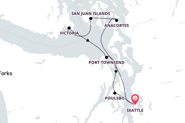 Puget Sound and San Juan Islands Cruise, Seattle Return
