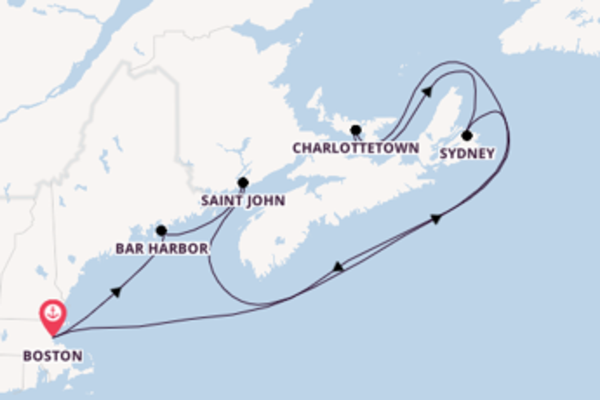 Cruising from Boston with the Voyager of the Seas