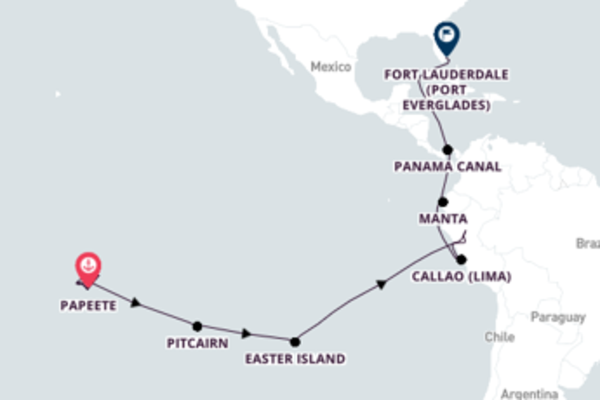 Pacific Princess Cruise from Papeete to Fort Lauderdale