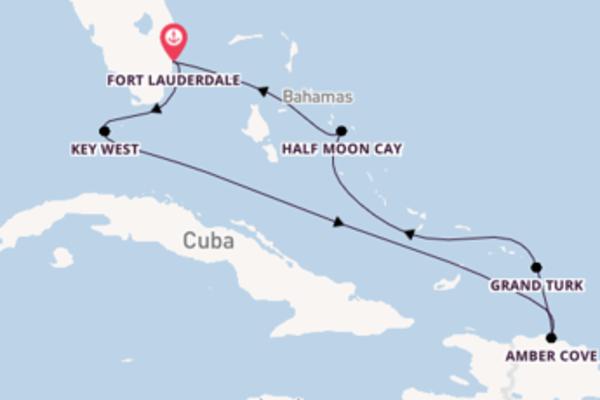 Ontdek het wonderschone Half Moon Cay in 8 dagen