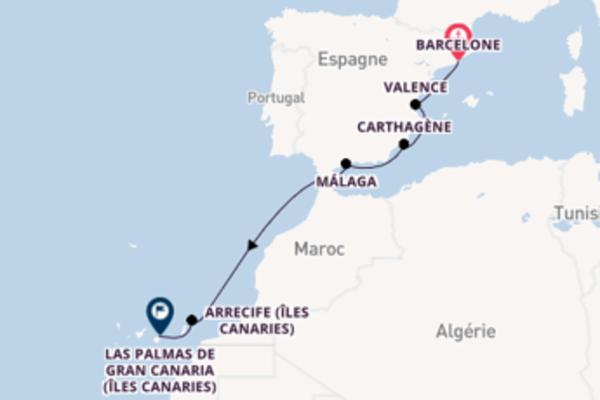 8 jours pour découvrir Málaga à bord du beateau Azamara Pursuit