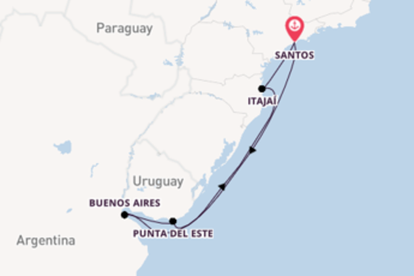 Trip with MSC Cruises from Santos