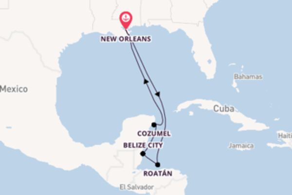 Journey with the Carnival Glory from New Orleans