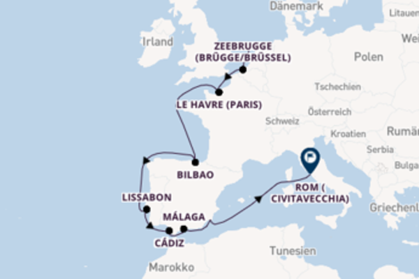 Wunderschöne Kreuzfahrt über Zeebrugge (Brügge/Brüssel) ab Amsterdam