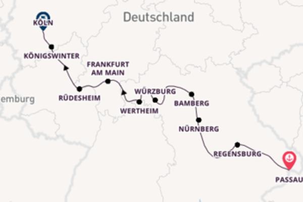 Vater Rhein und blaue Donau
