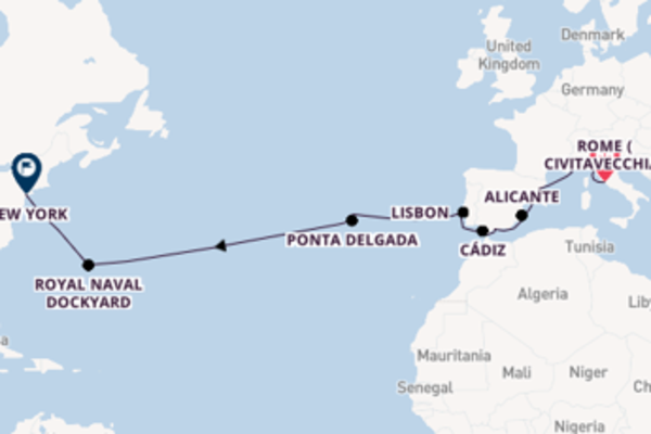 Sailing from Rome (Civitavecchia) via Livorno (Florence)