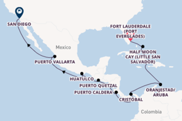 17 day trip from Fort Lauderdale to San Diego, California