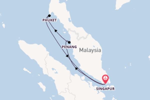 Wunderschöne Reise ab Singapur