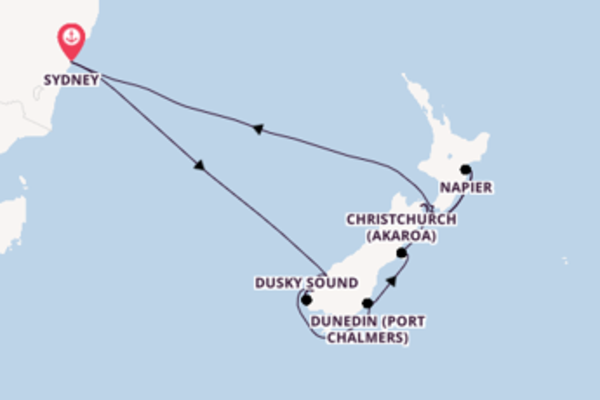 Cruising from Sydney via Napier