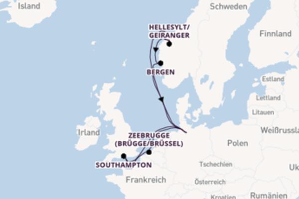Großartige Reise ab Rotterdam