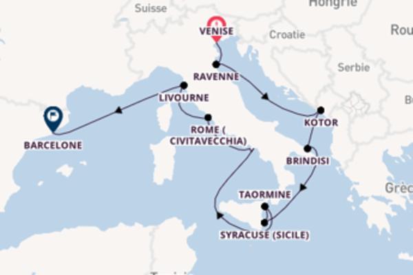 Divine balade de 14 jours pour découvrir Rome (Civitavecchia)