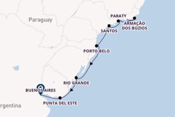 11-daagse cruise vanaf Rio de Janeiro