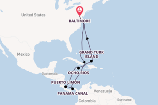 Sail from Baltimore, Maryland with the Carnival Pride