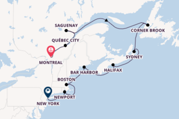 Expedition with Regent Seven Seas Cruises from Montreal