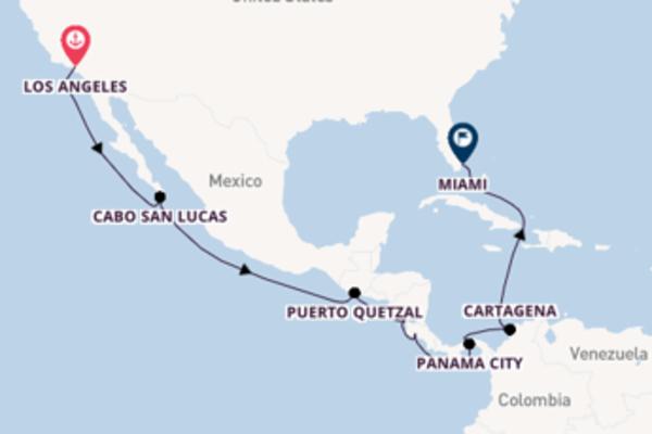 Fare rotta verso Canale di Panama a bordo di Norwegian Bliss