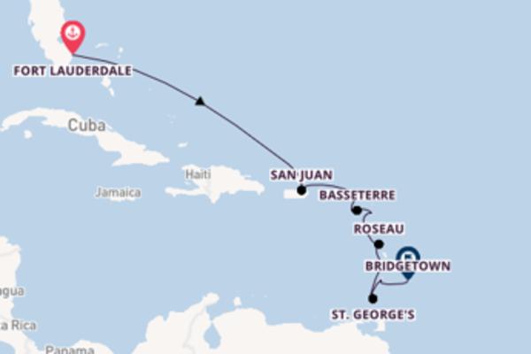 Viaggio da Fort Lauderdale verso Gustavia