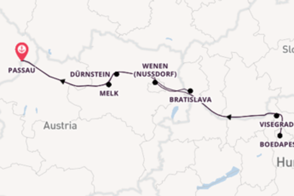 Vaar met de Ariana naar Passau