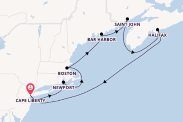 Spumeggiante crociera da Cape Liberty verso Boston