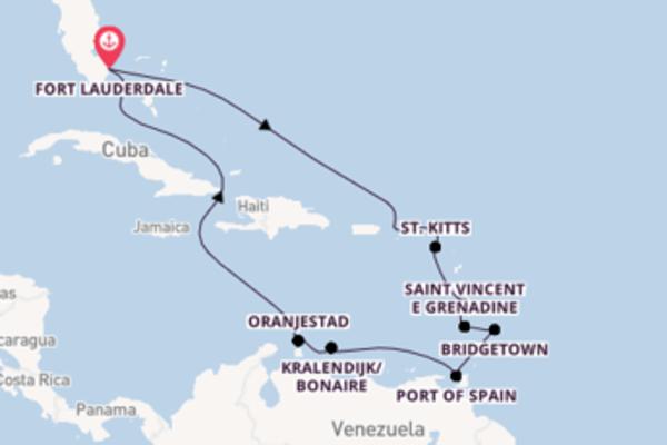 Viaggio da Fort Lauderdale verso St. Thomas