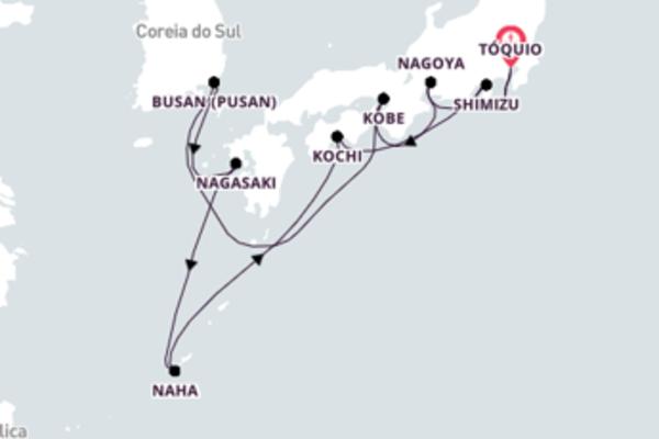 Grandioso passeio de 13 dias a bordo do Seven Seas Explorer