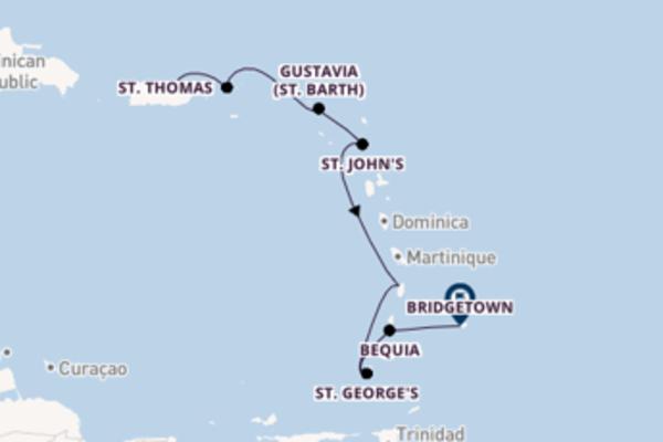 Cruising from San Juan via St. John's