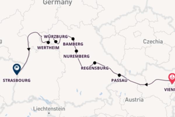 Cruising from Vienna via Regensburg