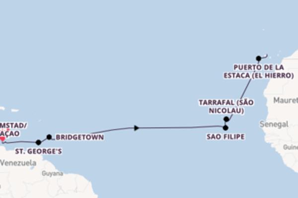 16-tägige Kreuzfahrt bis Santa Cruz de Tenerife